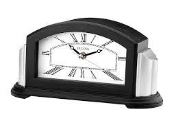 Bulova Table Clocks Wood by Amazon Com Bulova Unisex Bluetooth Enabled Clock B6219 Brown