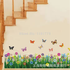 Decor Decals 10520cm ButterflyFlower Decorative 3D Wallpapers On The Walls Living Room Vinyl Wall Bedroom