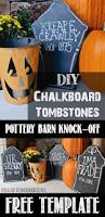 Diy Halloween Wood Tombstones by Diy Chalkboard Tombstones Pb Knock Off Free Template