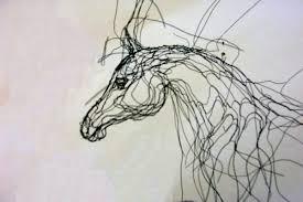 Arabian Wire Sculpture By Elizabeth Berrien