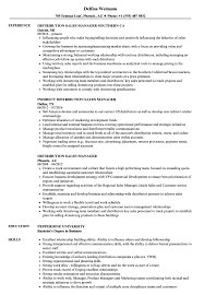 Download Distribution Sales Manager Resume Sample As Image File