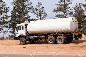 100 Water Tanker Truck White Construction Vehicle Stock Photo Picture
