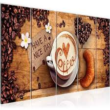 bilder küche kaffee wandbild 150 x 60 cm vlies leinwand