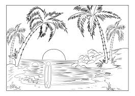 Coloring Pages Nature Adults Animals Scenes Beautiful Landscapes Full Size