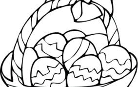 Easter Egg Basket Printable Coloring Pages Happy