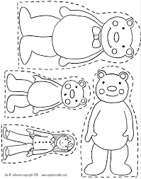 Three Bears Coloring Pages Throughout Goldilocks And The