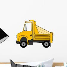 100 Yellow Dump Truck Wall Decal WallMonkeyscom
