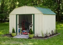 arrow galvanized steel storage shed 10x8 arrow vinyl 10x8 metal shed vs108 b free shipping