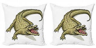 reptil 2 teiliges kissenbezugs set exotisches wildes