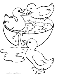 Classy Inspiration Duck Coloring Pages Printable Three Little Ducklings Color Page Free Sheets