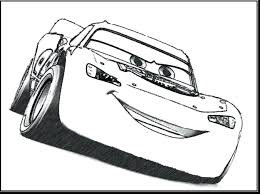 Lightning Mcqueen Color Pages Free Coloring Printable Pdf Side View Cars Full Size