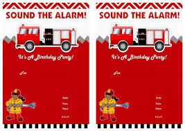 Fireman Fire Truck Perfect Fireman Birthday Invites - Birthday ...