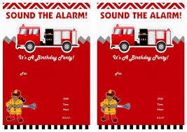 Fireman Fire Truck Perfect Fireman Birthday Invites - Birthday ...