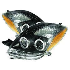 spyder auto toyota yaris 06 08 2dr projector headlights led