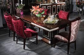 casa padrino luxus barock esszimmer set bordeauxrot dunkelbraun silber 1 esstisch 6 esszimmerstühle esszimmer möbel im barockstil edel