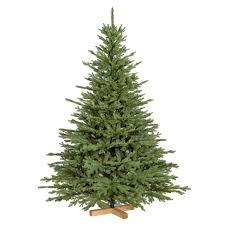 Gisela Graham Artificial Frost Snowy Fir Tree Log Base Christmas