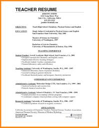 Objective Teaching Resume Objectives For Teachers Of Your Teacher Examples Sample Substitute Kindergarten 1152