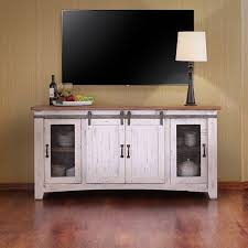 Image Of Rustic TV Stand With Barn Doors
