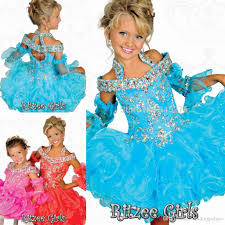 2016 blue ritzee girls baby infant cupcake toddler glitz pageant