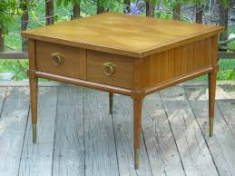 American Of Martinsville Dining Room Set by Mid Century Modern Mahogany End Table By American Of