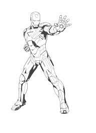 Coloring Pages Free Printable Iron Man Download Superhero