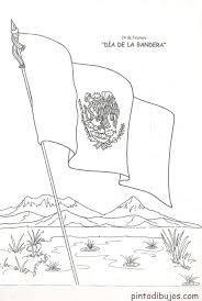 Mexican Flag Coloring Page