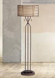 Marlowe Woven Bronze Metal Floor Lamp
