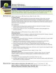 Teacher Resume Summary Of Qualifications Example A Teachers New