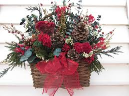 Rustic Dried Flower Arrangement In Basket For The Wall Different Colors Would Make It More