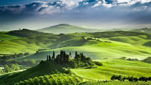 Italy Nature Hills Green Tuscany Landscape Region Beauty Sky Wallpaper Hd Iphone