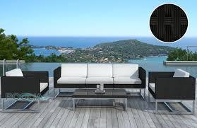 canapé de jardin design salon de jardin design pas cher table ronde jardin