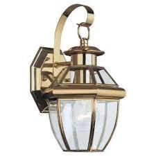 brass gold sea gull lighting outdoor lanterns sconces