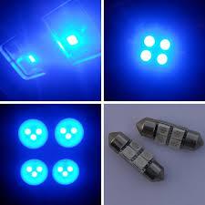 31mm 4 smd led 10000k ultra blue light bulbs led231 4 blue 4b2