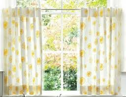 Yellow And White Curtains For Nursery by Cafe Curtain Set 80