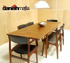 MID CENTURY DANISH MODERN TEAK DINING COMPLETE SET TABLE
