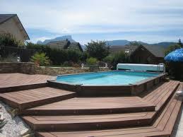 installation piscine semi enterree bois evtod