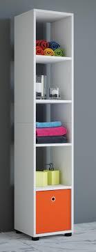 vcm badregal regal standregal badschrank badmöbel hochschrank benos 5 weiß 152 x 31 x 30 cm weiß