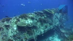 diving bounty wreck gili islands lombok indonesia youtube