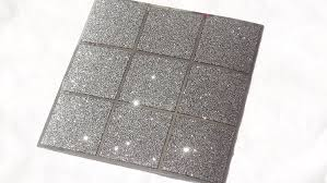 Mosaic Bathroom Mirrors Uk by Pack Of 10 Black And Silver Glitter Mosaic Tile Transfers Stickers