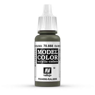 Vallejo Model Color Paint - 17ml, 888 Olive Grey