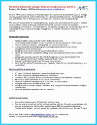 Inbound Call Center Job Description For Resume Outbound Inspirational Free Stunning Sample Of