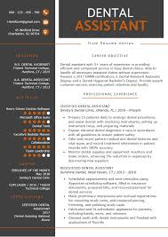 100 Dental Assistant Resume Templates Sample Tips Genius