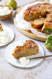 birnenkuchen mit honig mandelkruste so ist es heute so war