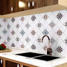 homease küchenrückwand folie selbstklebende 500x60cm küche deko fliesenaufkleber tapete mosaik stil pvc wasserdichter wandaufkleber fliesenfolie