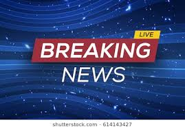 Breaking News Live Banner On Glowing Wavy Lines Background Business Technology