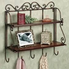 Onlineshoppee Home Decor 2 Shelf Book Kitchen Rack With Cloth Key Hanger S