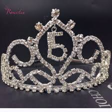 aliexpress com buy number sweet 15 girls crystal quinceanera
