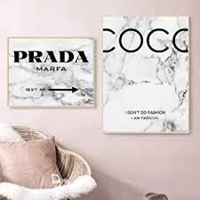 moderne mode marmor coco zitate poster und drucke schwarz