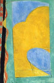 Henri Matisse The Yellow Curtain 1915 With His Fauvist Color And Drawing Comes Very Close To Pure Abstraction