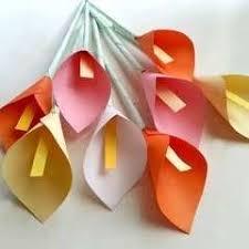 DIY Paper Calla Lily Muhaiminah Faiz Tutorial